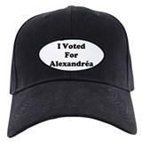 I Voted For Alexandria Baseball Cap