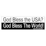 Bumper Sticker - God Bless the World