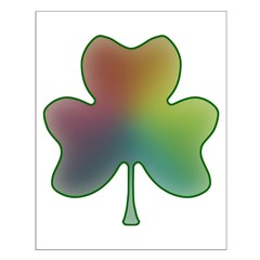 Rainbow in a Shamrock Small Poster