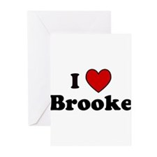 I Heart Brooke Greeting Cards (Pk of 10)