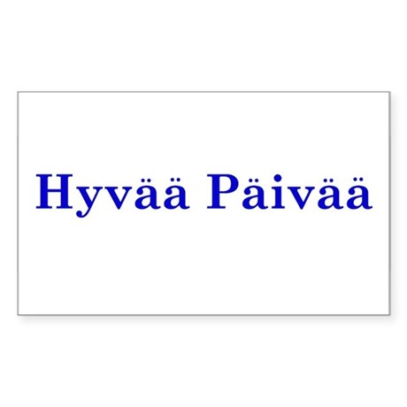 Hyvää Päivää Rectangle Sticker