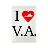 I Love VA Rectangle Magnet (100 pack)