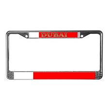 Dubai Flag License Plate Frame