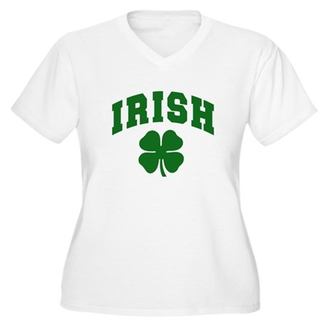 Irish Women's Plus Size V-Neck T-Shirt