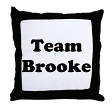 Team Brooke Throw Pillow