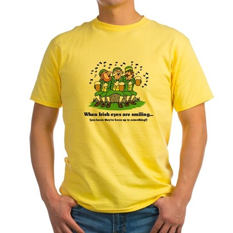 Irish eyes are smiling Yellow T-Shirt