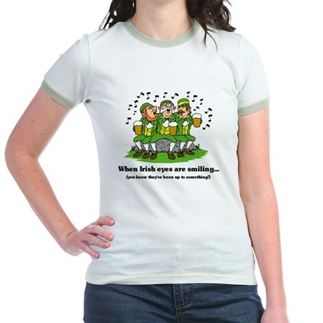Irish eyes are smiling Jr. Ringer T-Shirt