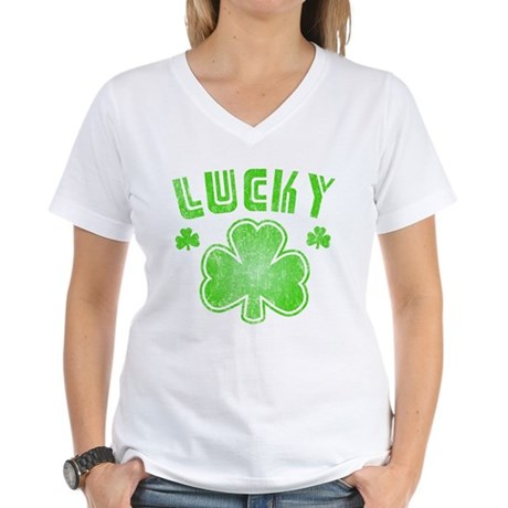 Lucky Womens V-Neck T-Shirt