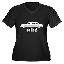 Limousine Women's Plus Size V-Neck Dark T-Shirt