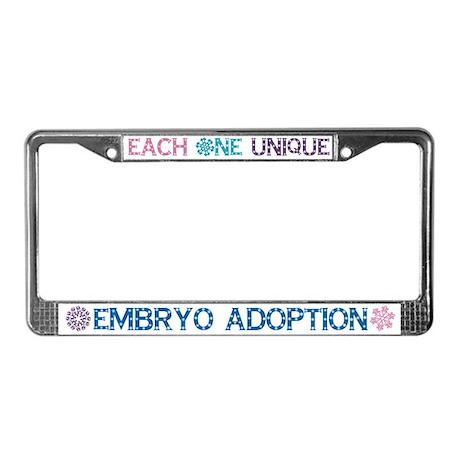 Embryo Adoption License Plate Holder