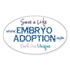 Embryo Adoption Awareness Oval Decal