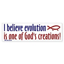 Bumper Sticker - I believe evolution is one of God
