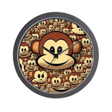 Lucky Monkey Wall Clock