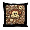 Lucky Monkey Throw Pillow