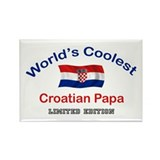 Coolest Croatian Papa Rectangle Magnet