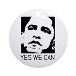 Yes we can / Obama Ornament (Round)