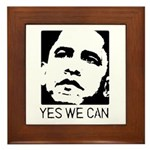 Yes we can / Obama Framed Tile