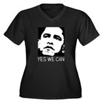 Yes we can / Obama Women's Plus Size V-Neck Dark T