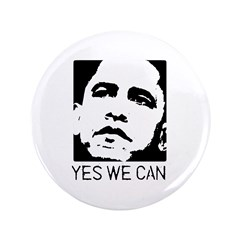"Yes we can / Obama 3.5"" Button (100 pack)"