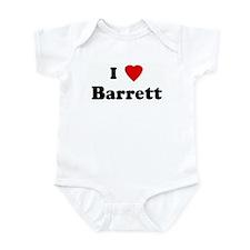 I Love Barrett Infant Bodysuit