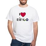 I LOVE BINGO White T-Shirt