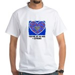 together we can make a difference White T-Shirt