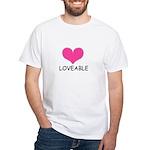 loveable heart White T-Shirt