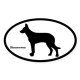 Beauceron Silhouette Decal