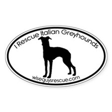 WISE GUYS RESCUE Custom Oval Decal