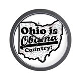 Ohio Is Obama Country Wall Clock