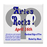Aries April 16th Tile Coaster