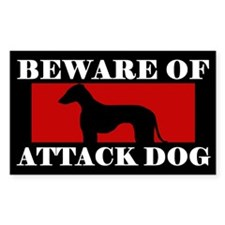 Beware of Attack Dog Azawakh Decal