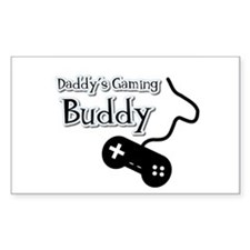 Daddy's Gaming Buddy Rectangle Decal