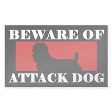 Beware of Attack Dog Australian Terrier Decal