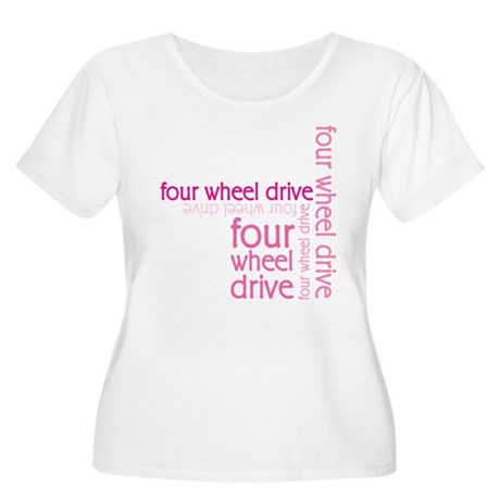 Pink Four Wheel Drive Girl Women's Plus Size Scoop