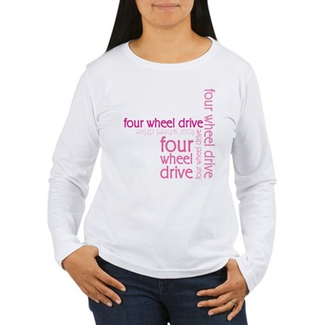 Pink Four Wheel Drive Girl Women's Long Sleeve T-S