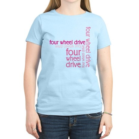 Pink Four Wheel Drive Girl Women's Light T-Shirt