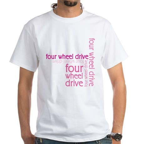Pink Four Wheel Drive Girl White T-Shirt