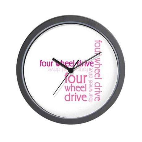 Pink Four Wheel Drive Girl Wall Clock