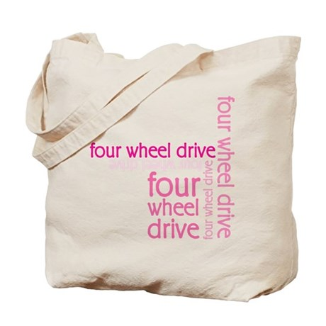 Pink Four Wheel Drive Girl Tote Bag