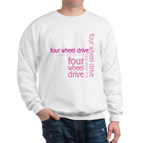 Pink Four Wheel Drive Girl Sweatshirt