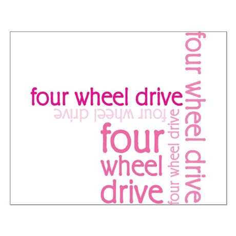 Pink Four Wheel Drive Girl Small Poster