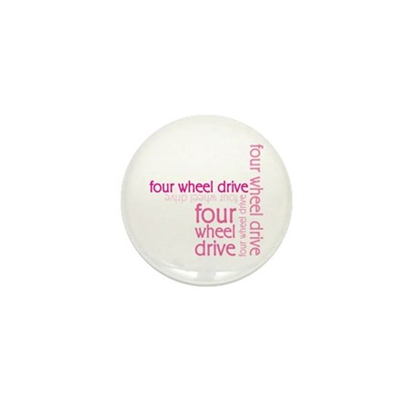 Pink Four Wheel Drive Girl Mini Button (100 pack)