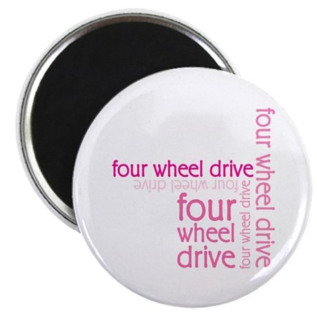 Pink Four Wheel Drive Girl Magnet