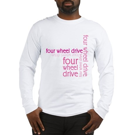 Pink Four Wheel Drive Girl Long Sleeve T-Shirt