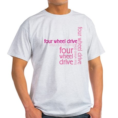Pink Four Wheel Drive Girl Light T-Shirt