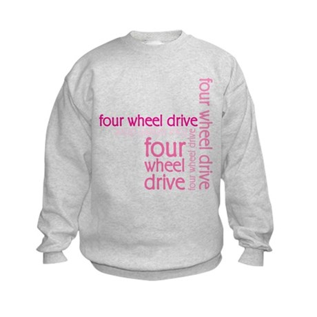 Pink Four Wheel Drive Girl Kids Sweatshirt