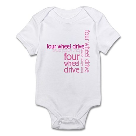 Pink Four Wheel Drive Girl Infant Bodysuit