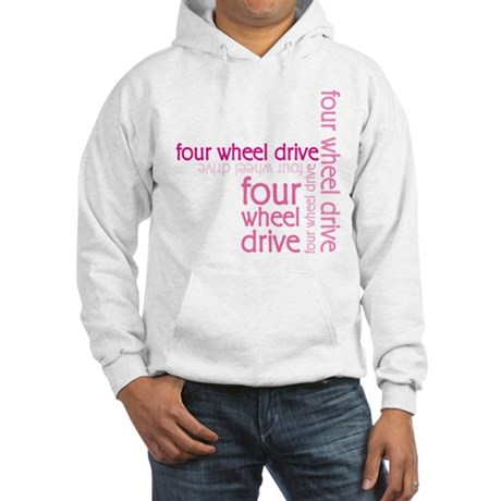 Pink Four Wheel Drive Girl Hooded Sweatshirt
