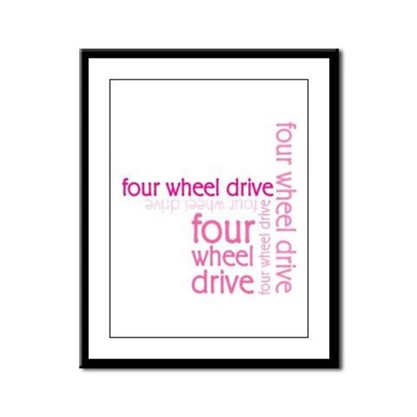 Pink Four Wheel Drive Girl Framed Panel Print